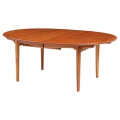 1950s JH-537 Oval Extension Table by Hans J. Wegner for Johannes Hansen in Teak