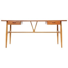 1950s JH-563 Wishbone Writing Desk by Hans J. Wegner for Johannes Hansen