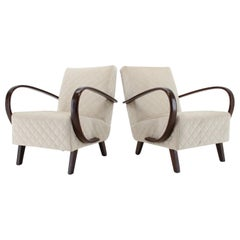 1950s Jindrich Halabala Set of Two Armchairs, Czechoslovakia