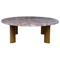 1950s Widdicomb Fin-Leg Red Marble Coffee Table Ski Chalet CabinModern Rustic
