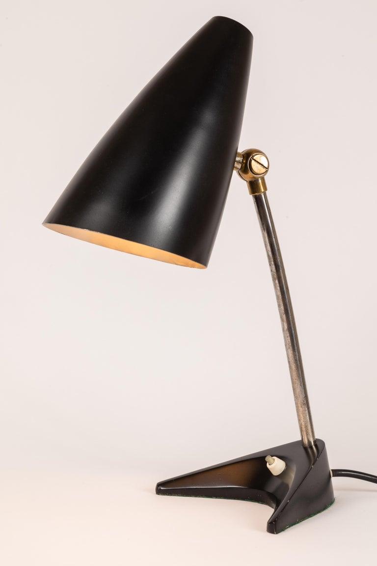 1950s J T Kalmar Black Table Lamp For Sale At 1stdibs
