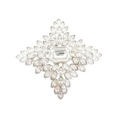 1950s Kenneth Lane Enlarged Rhinestone Brooch