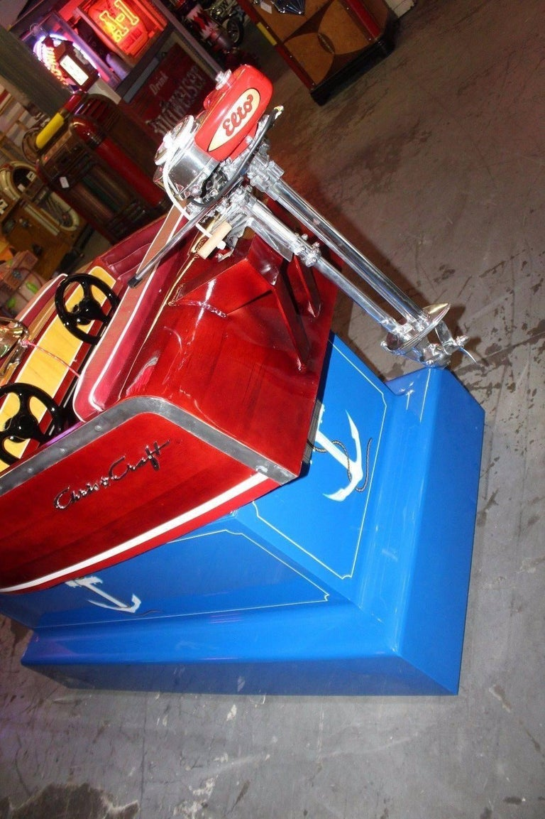1950s Kiddie Boat Ride with Custom Chris Craft Logo Carnival Ride For Sale 3
