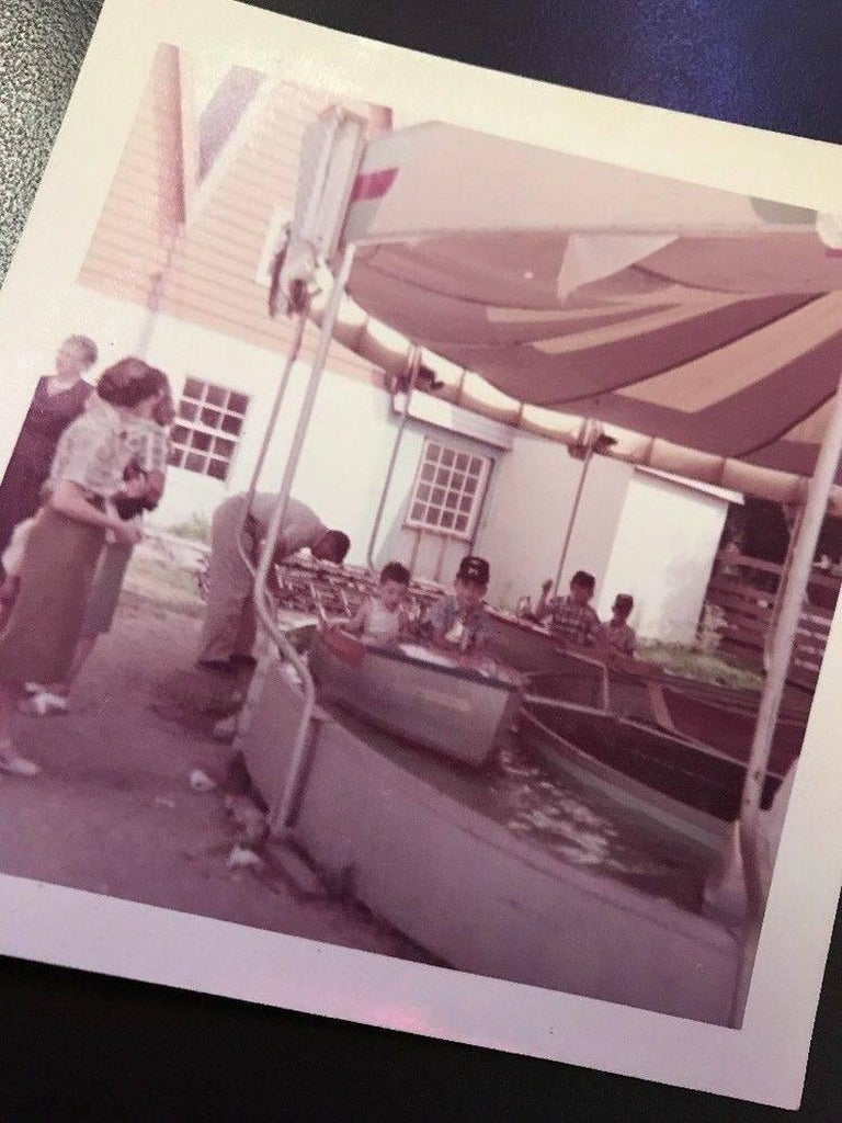 1950s Kiddie Boat Ride with Custom Chris Craft Logo Carnival Ride For Sale 5