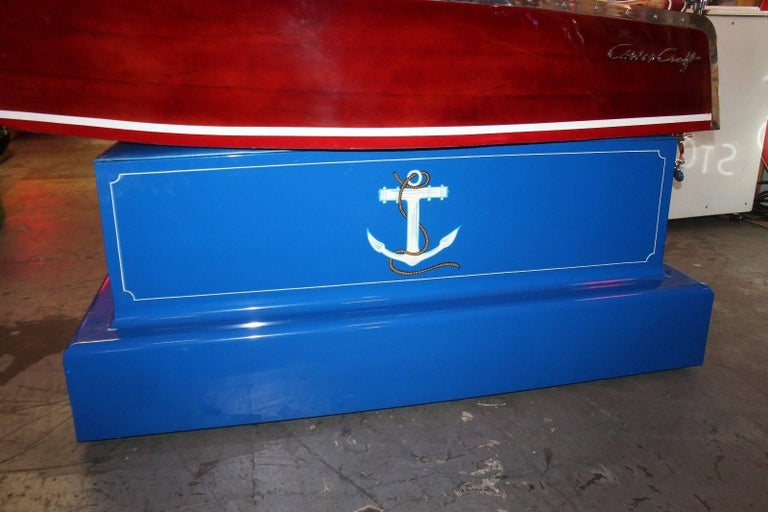 1950s Kiddie Boat Ride with Custom Chris Craft Logo Carnival Ride For Sale 1