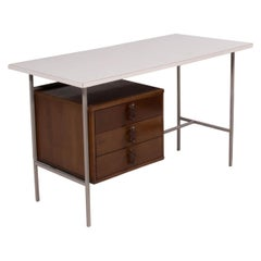 1950s Knoll & Drake Formica and Walnut Desk