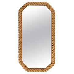 1950s Large Audoux & Minet Rope Mirror