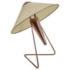 1950s Large Copper Table Light by Helena Frantova for Okolo, Czechoslovakia