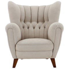 1950s Large Danish Wingback Chair