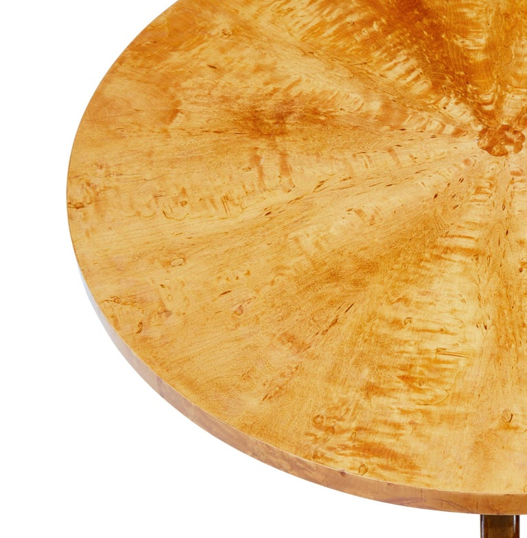 Veneer 1950s Later Deco Swedish Birch Occasional Table For Sale