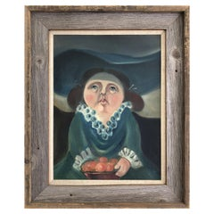 1950s Latin-American School Portrait Oil Painting