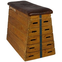 1950s Leather Gym Box Bench