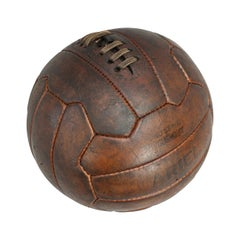 1950s Leather Vintage Football Zig-Zag Ariel Football Soccer Ball