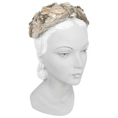 1950's Lilly Dache Hand Decorated Hat