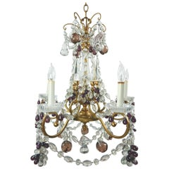 1950s Lobmeyr Of Vienna Art Glass Chandelier