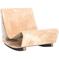 """1950s """"Loop"""" Chair in Concrete by Willy Guhl, Produced by Eternit Brazil"""