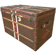 1950s Louis Vuitton Monogram Lady's Steamer Trunk