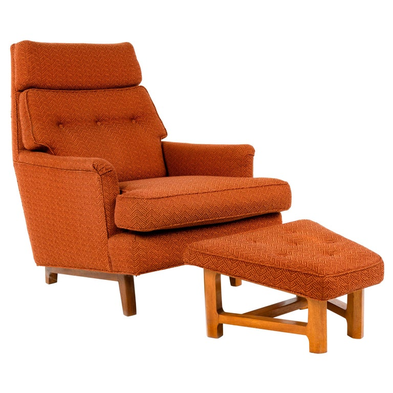 1950s Lounge Chair and Ottoman by Edward Wormley for Dunbar For Sale