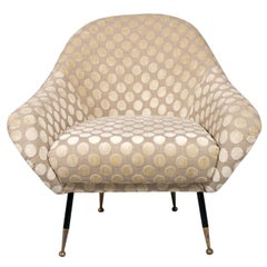 1950s Lounge Chairs, Gio Ponti Designer Attributed, Just Richly New Upholstered