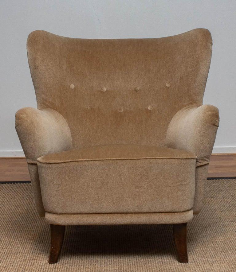 Finnish 1950s Lounge Easy Club Chair by Ilmari Lappalainen for Asko, Finland 1