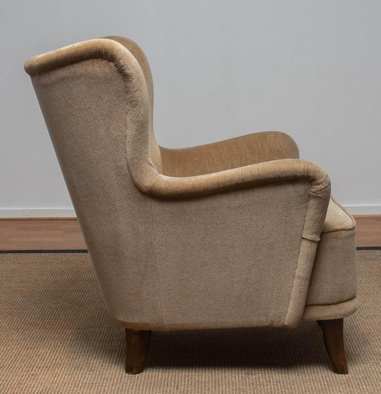 Mid-20th Century 1950s Lounge Easy Club Chair by Ilmari Lappalainen for Asko, Finland 1