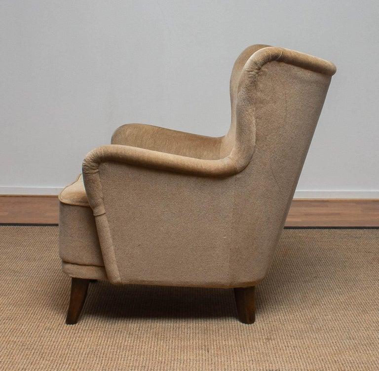 Mid-Century Modern 1950s Lounge Easy Club Chair by Ilmari Lappalainen for Asko, Finland