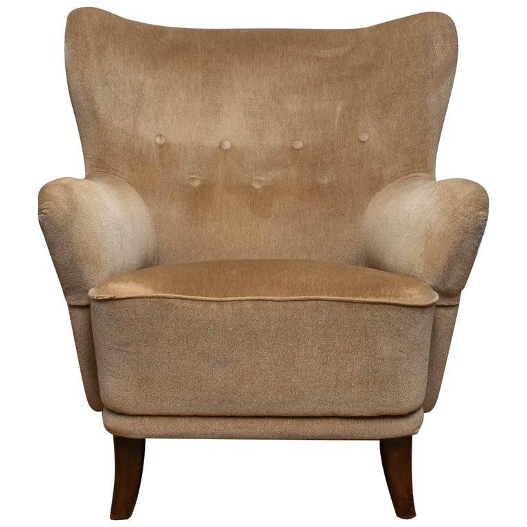 1950s Lounge Easy Club Chair by Ilmari Lappalainen for Asko, Finland