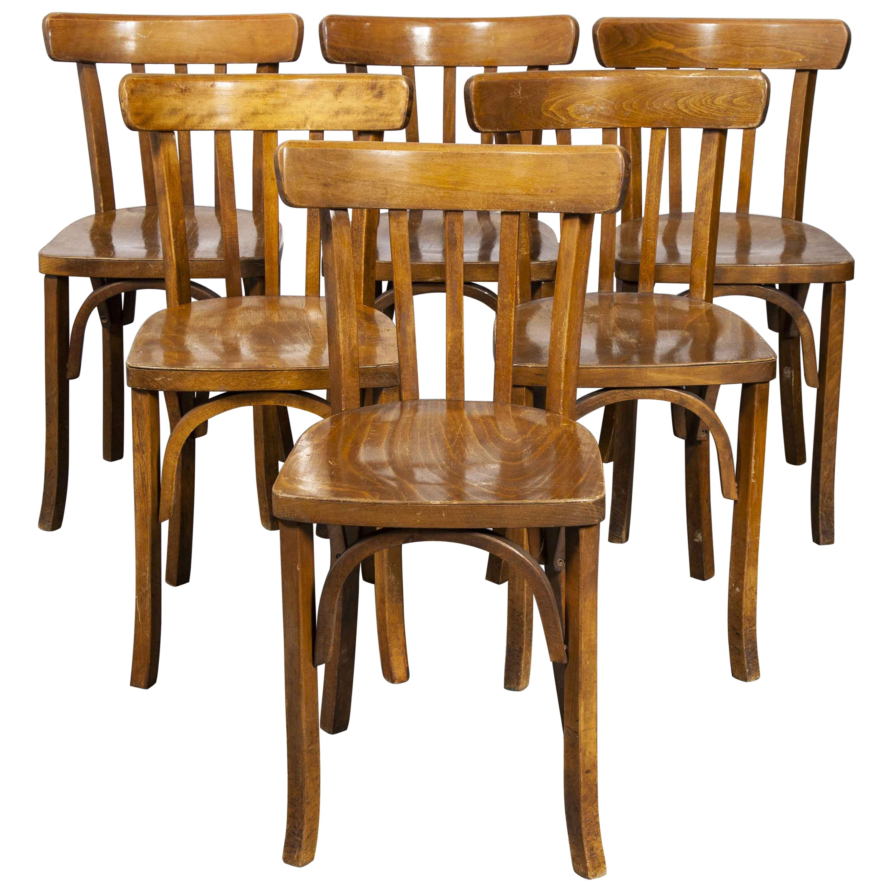 1950's Luterma Bentwood Dining Chair, Set of Six