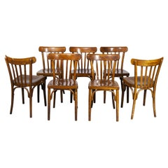 1950's Luterma Curved Bentwood Dining Chair, Set of Seven