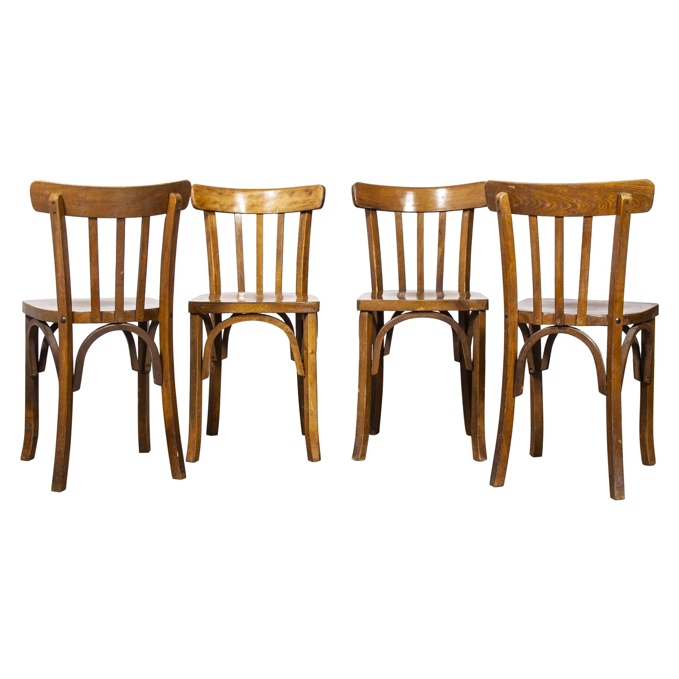 1950's Luterma French Bentwood Dining Chair, Set of Four