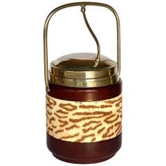 1950s Macabo Italian Midcentury Design Wood Ice Bucket