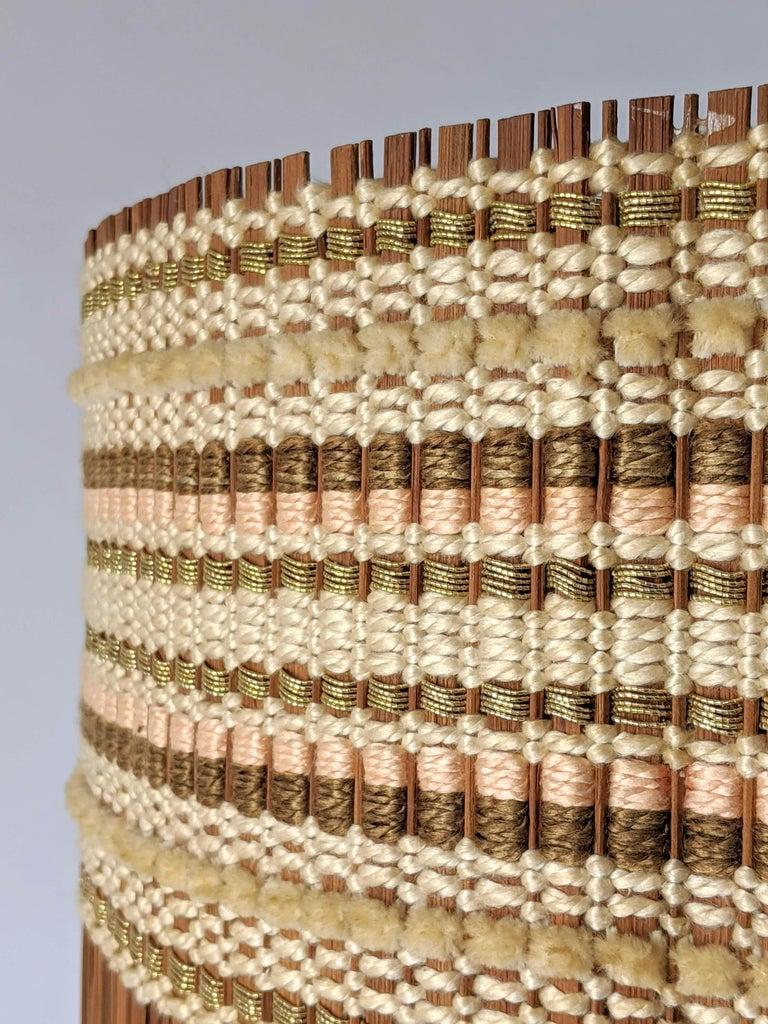 Woven 1950s Maria Kipp Table Lamp Shade, USA For Sale