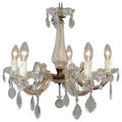 1950s Maria Theresia Glass Chandelier