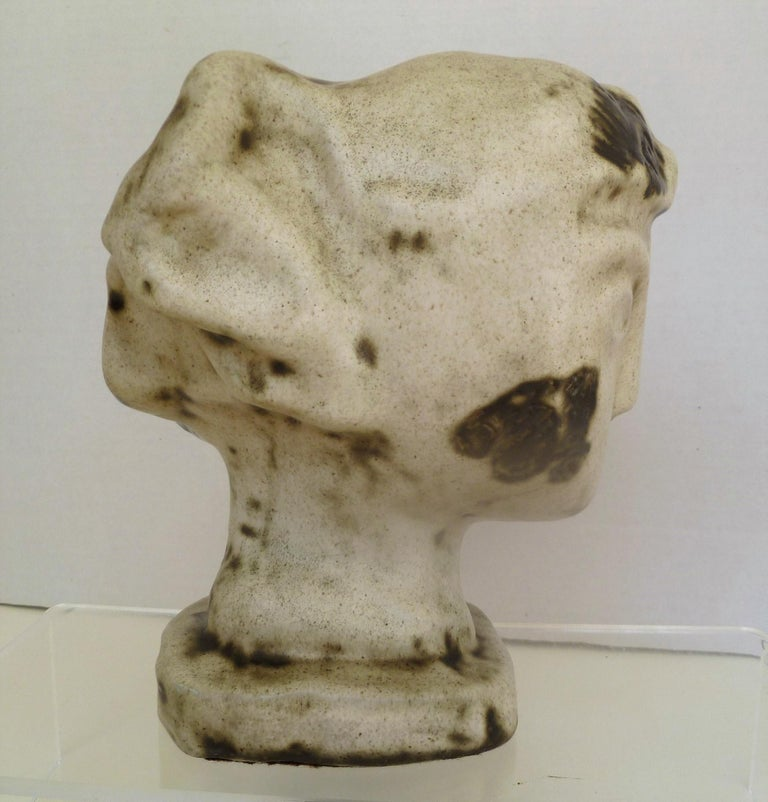 1950s Marianna von Allesch Midcentury Ceramic Pottery Head Sculpture For Sale 4
