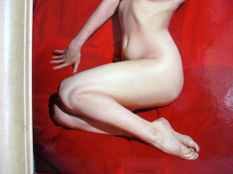 1950s Marilyn Monroe Red Velvet Pin-Up
