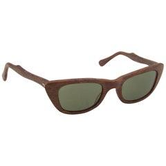 1950s Martin Wells Faux Wood Sunglasses