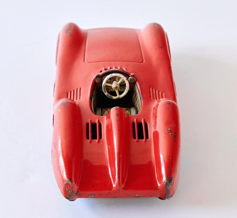1950s Mercedes-Benz W196 Metal Toy Car by Johann Neuhierl Fürth In Fair Condition In Los Angeles, CA