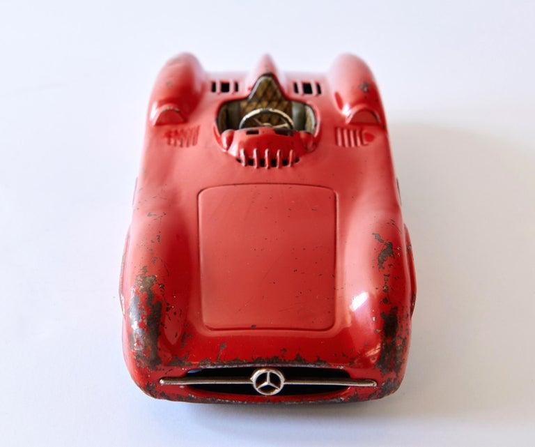 Mid-20th Century 1950s Mercedes-Benz W196 Metal Toy Car by Johann Neuhierl Fürth