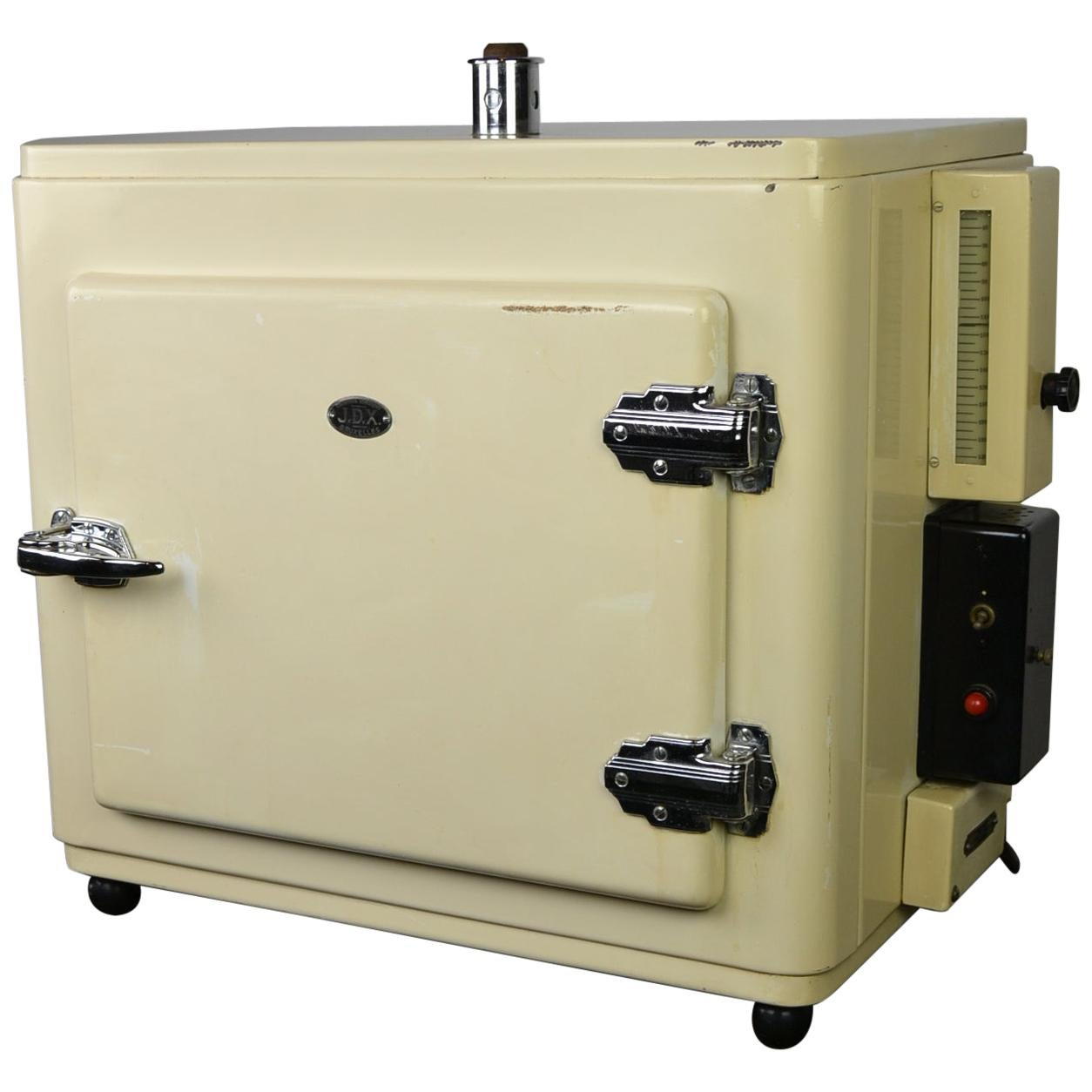 1950s Metal Sterilizer Cabinet, Medical Equipment