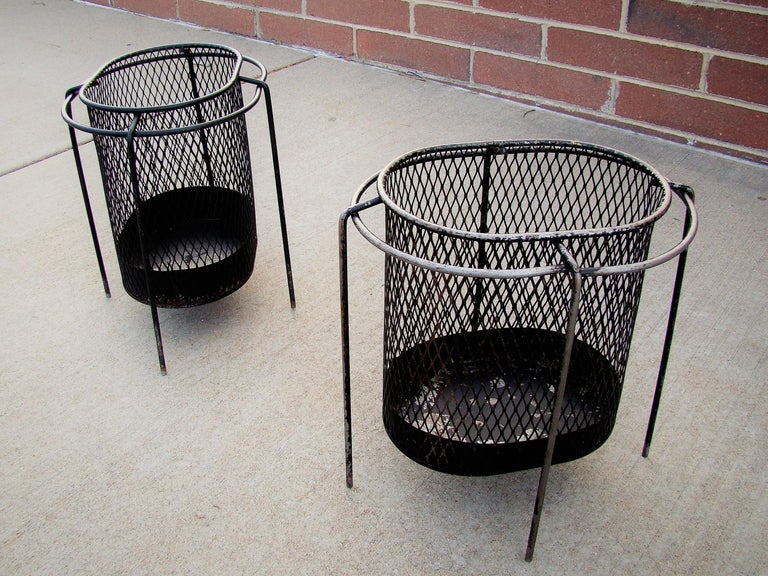 1950s Metal Waste Paper Baskets by Maurice Duchin French-American For Sale 2