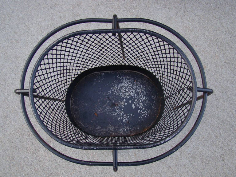 1950s Metal Waste Paper Baskets by Maurice Duchin French-American For Sale 4