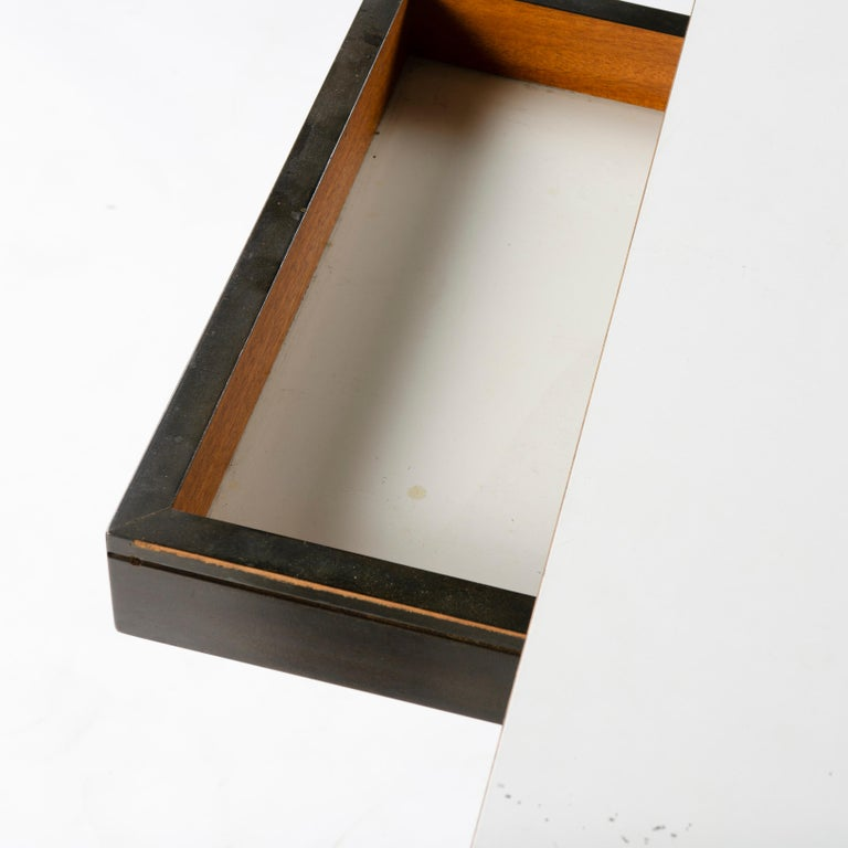 1950s Metaphor Desk in Mahogany and Brass by Harvey Probber For Sale 1