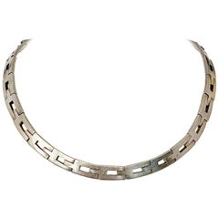 1950s Mexican Sterling Silver Linked Choker