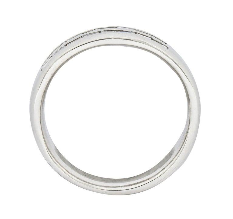 1950's Mid-Century 0.80 Carat Diamond Platinum Men's Band Ring US For Sale 1