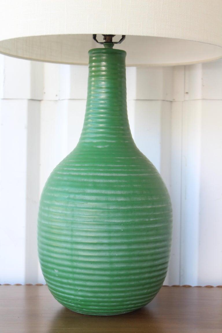 American 1950s Mid-Century Ceramic Lamp For Sale