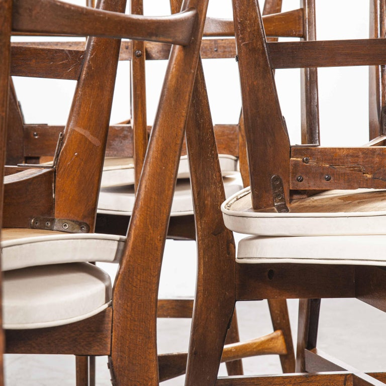 Mid-20th Century 1950s Midcentury French Upholstered Dining Chairs, Set of Fourteen
