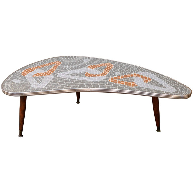 Admirable 1950S Mid Century Modern Atomic Era Tile Mosaic Boomerang Ocoug Best Dining Table And Chair Ideas Images Ocougorg