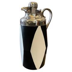 1950s Mid-Century Modern Black and White Italian Design Carafe