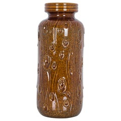 1950s Mid-Century Modern Brown Ceramic Vase