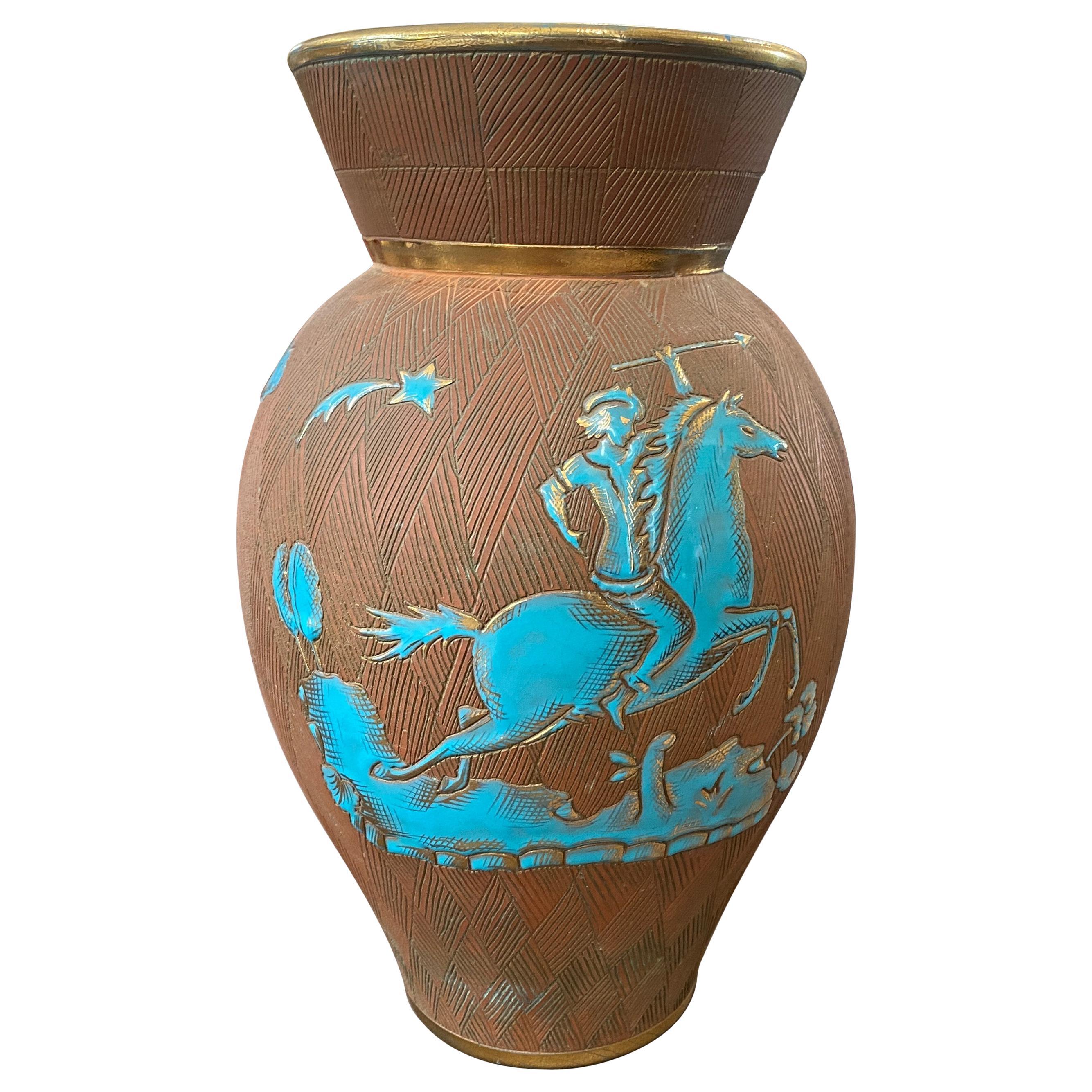 1950s Mid-Century Modern Ceramic Italian Vase by Fantechi